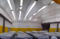 Imbiancatura capannone con prodotti anti alga / anti muffa