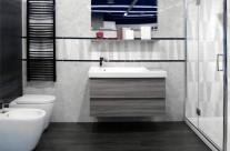 Soluzione espositiva per bagno